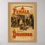 Vintage - A Female Drummer Poster