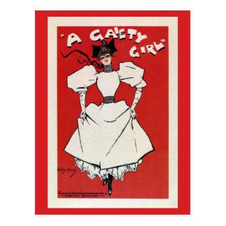 vintage A Gaiety girl musical (white) Postcard