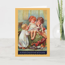 Vintage - A Happy Christmas with Love, Card