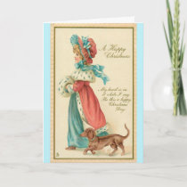 Vintage - A Happy, Old-Fashioned Christmas, Card