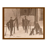 Vintage A Hunting We Will Go Postcard