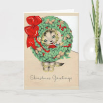 Vintage - A Kitten's Christmas Greetings, Card
