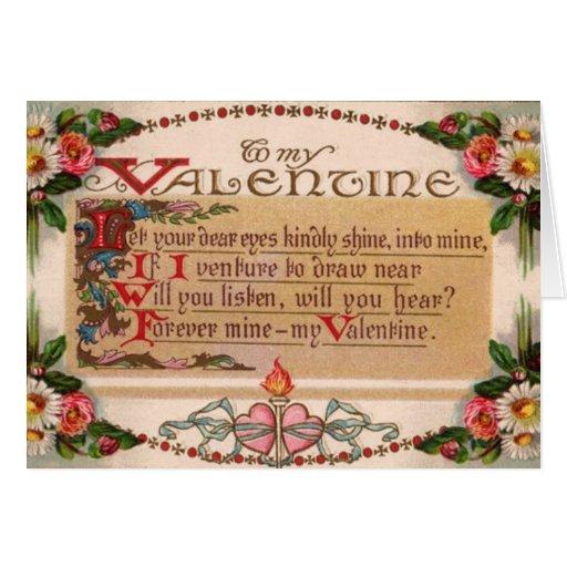 Vintage - a mi tarjeta del día de San Valentín - p