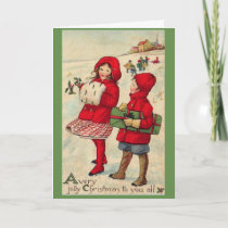 Vintage - A Very Jolly Christmas, Card