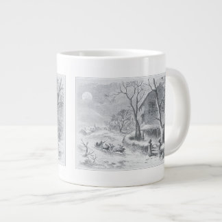 Vintage a visit from saint Nicholas painting Large Coffee Mug