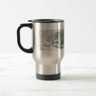 Vintage a visit from saint Nicholas painting Travel Mug