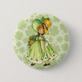 Vintage A Wee Irish Lass Button