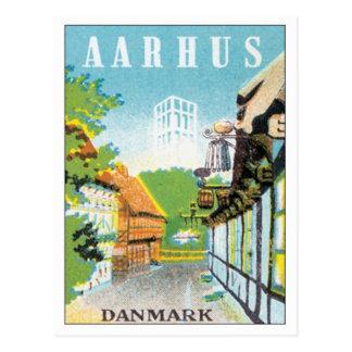 Vintage Aarhus Dinamarca Postales