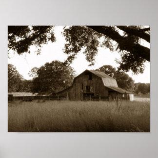 Vintage Abandoned Barn in Alton, Missouri Poster