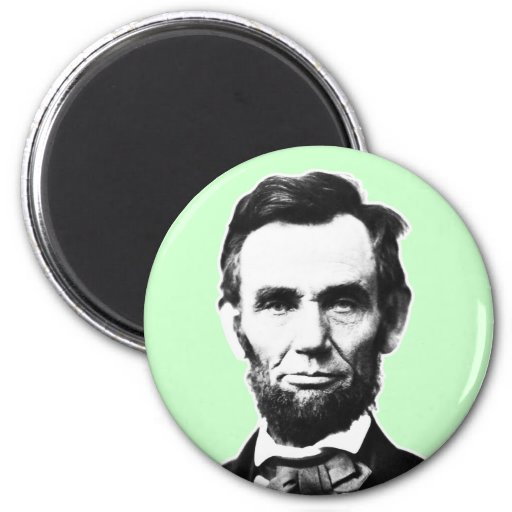 Vintage Abe Lincoln 2 Inch Round Magnet