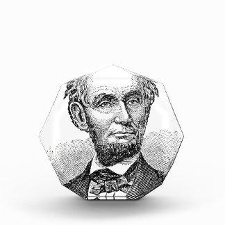 Vintage Abe Lincoln Bust Acrylic Award
