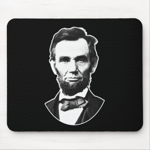 Vintage Abe Lincoln Mouse Pad
