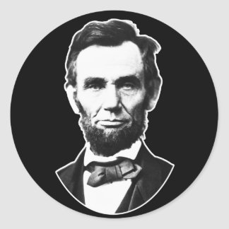 Vintage Abe Lincoln Pegatina Redonda
