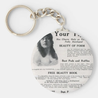 """Vintage """"About Your Figure"""" Basic Round Button Keychain"""