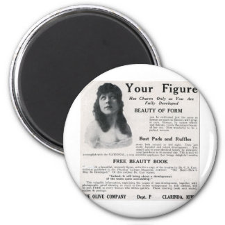"""Vintage """"About Your Figure"""" 2 Inch Round Magnet"""