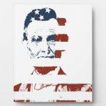 Vintage abraham lincoln american flag display plaque