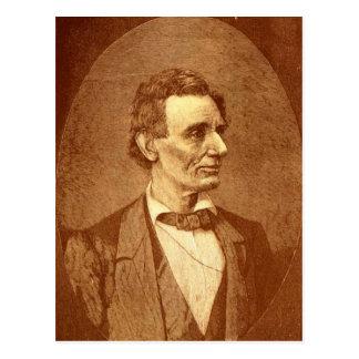 Vintage Abraham Lincoln Image Postcard