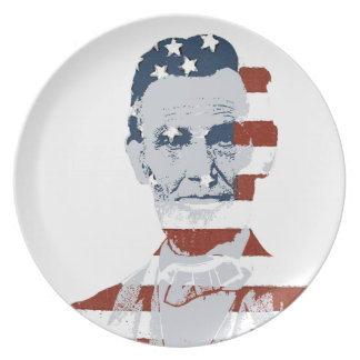 Vintage Abraham Lincoln Independence Day Party Plate