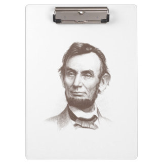 Vintage Abraham Lincoln Portrait Clipboards