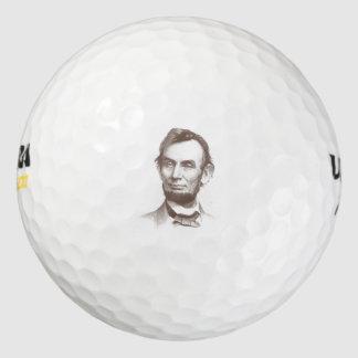 Vintage Abraham Lincoln Portrait Golf Balls