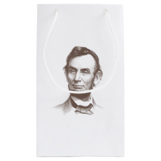 Vintage Abraham Lincoln Portrait Small Gift Bag