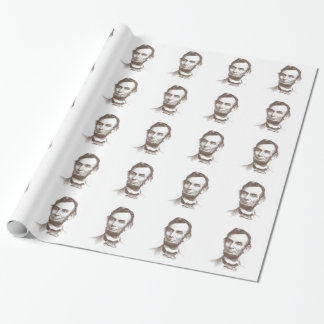 Vintage Abraham Lincoln Portrait Gift Wrapping Paper
