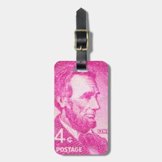Vintage Abraham Lincoln Travel Bag Tags