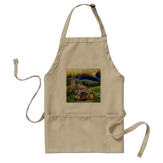 Vintage Abruzzo Italy Travel Poster Adult Apron