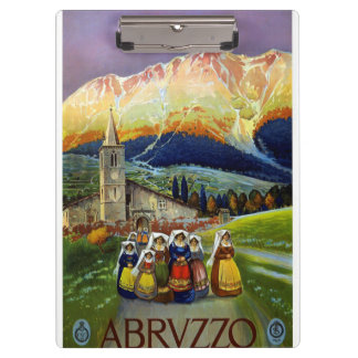 Vintage Abruzzo Italy Travel Poster Clipboard