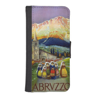 Vintage Abruzzo Italy Travel Poster iPhone SE/5/5s Wallet