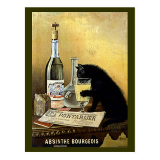 Vintage Absinthe Bourgeois Advertisement Post Cards