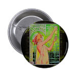 Vintage Absinthe Green Fairy Poster Pinback Button