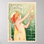 Vintage Absinthe Robette by Alphonse Mucha Poster