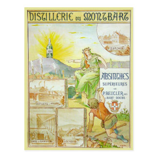 Vintage Absinthes Superieures Postcard