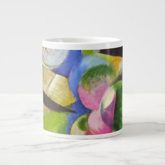 Vintage Abstract Art, House w Trees by Franz Marc 20 Oz Large Ceramic Coffee Mug