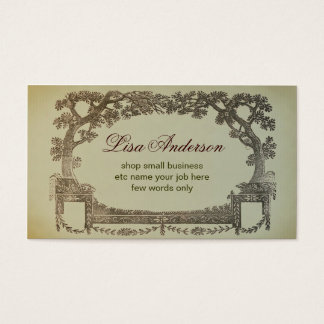 vintage abstract business card with trees