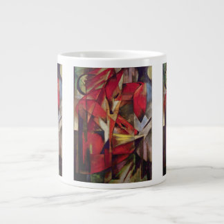 Vintage Abstract Cubism, Foxes by Franz Marc 20 Oz Large Ceramic Coffee Mug