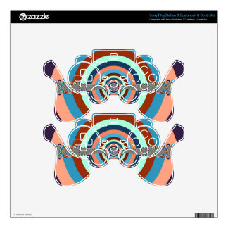 Vintage Abstract Dart Board PS3 Controller Skin