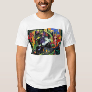 Vintage Abstract Fine Art, Cattle by Franz Marc Tshirts