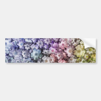 Vintage Abstract Floral Car Bumper Sticker