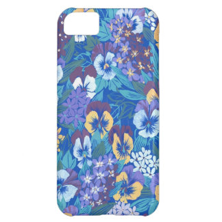 Vintage Abstract Floral Pansy iPhone 5C Cases
