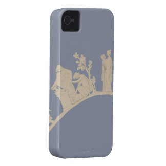 Vintage Abstract Floral Pattern iPhone 4 Covers