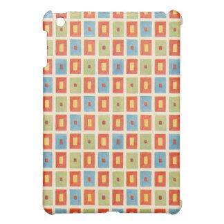 Vintage Abstract Geometric Blocks iPad Mini Cases