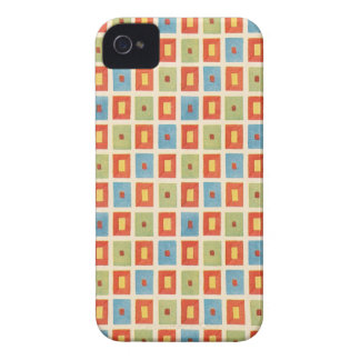 Vintage Abstract Geometric Blocks iPhone 4 Case-Mate Case