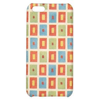Vintage Abstract Geometric Blocks iPhone 5C Case