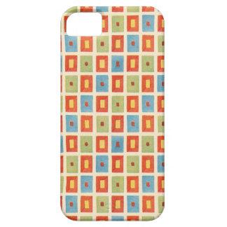 Vintage Abstract Geometric Blocks iPhone SE/5/5s Case