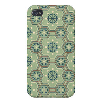 Vintage Abstract Green Gears iPhone 4/4S Cases