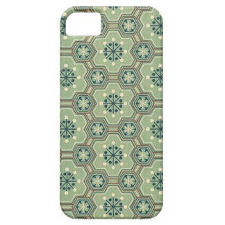 Vintage Abstract Green Gears iPhone SE/5/5s Case