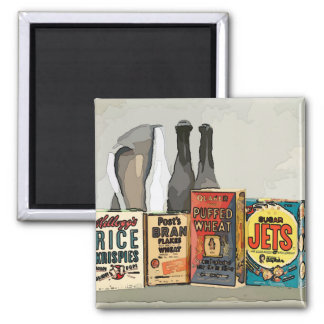 Vintage abstract grocery still life magnet