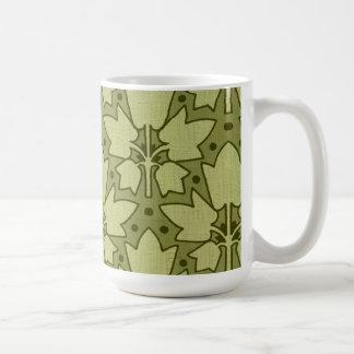 Vintage Abstract Leaves (altered art) Coffee Mug